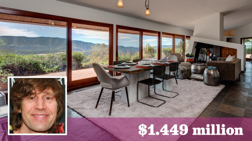 Skateboarding pioneer Rodney Mullen has listed his home and 360-degree views in Ojai on the market for $1.449 million.