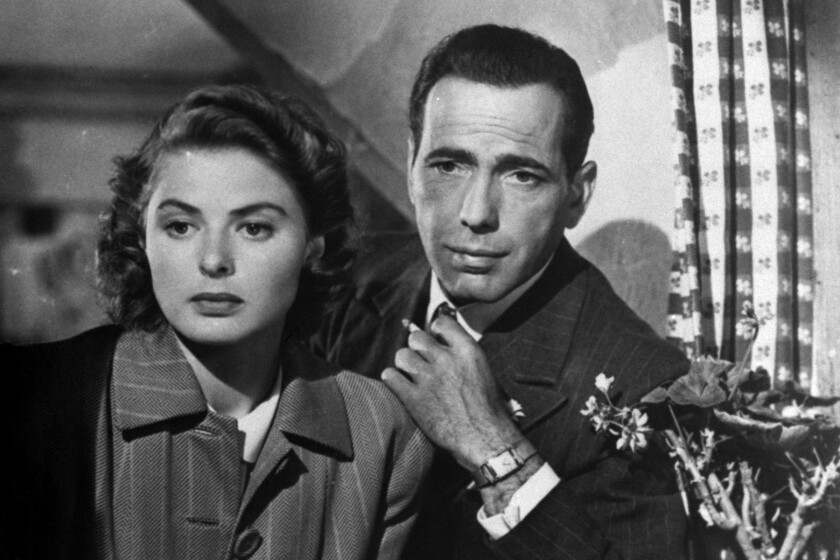 Ingrid Bergman and Humphrey Bogart in 'Casablanca'