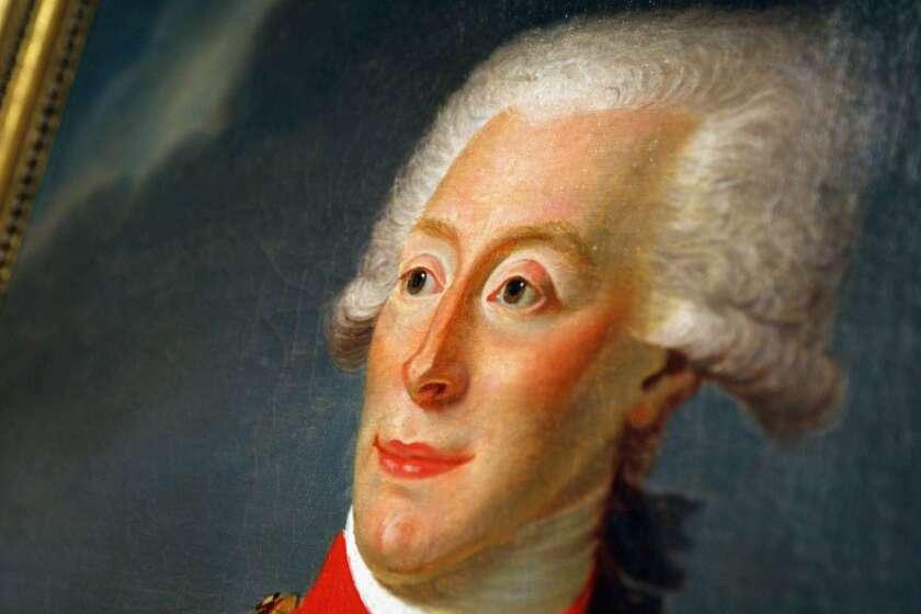 A portrait of the Marquis de Lafayette