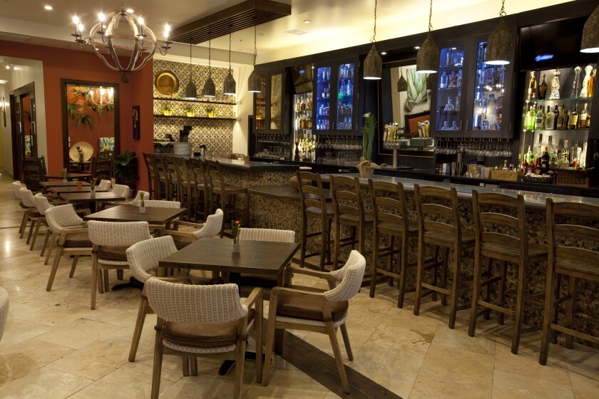The bar in newly opened Cocina del Rancho restaurant in Rancho Santa Fe serves 110 varieties of tequila and mezcal.