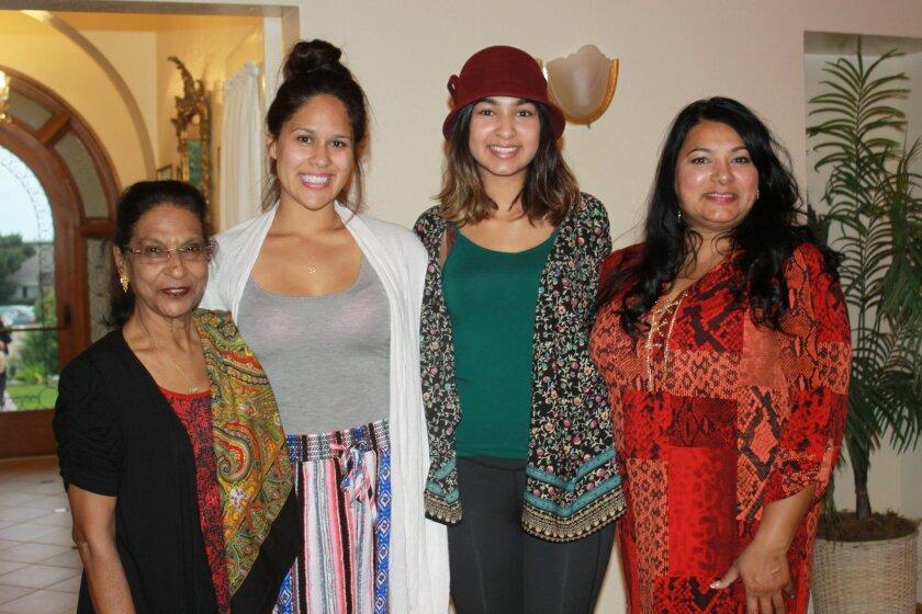 Kamla Ramlochan, with granddaughters Destiny Peralez, Sophia Martin and daughter Balmatie Ramlochan.