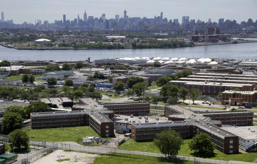 Rikers Island jail complex in New York City.