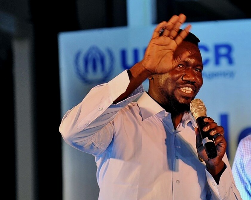 Sayid Ismael Baraka, a U.S. citizen from Atlanta, Georgia, participates in a World Refugee Day event held by the UNHCR in Tel Aviv, Israel, June 20, 2019. Baraka went to a village in West Darfur province for a family visit in December 2020. One day during his stay, the 36-year-old was killed in an attack by local militias. Baraka was among dozens of people killed in a recent spike of violence in the restive province that is threatening Sudan's fragile transitional government. (Usumain Baraka via AP)
