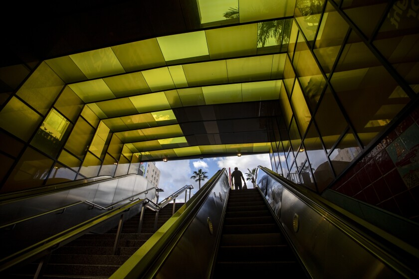 The Hollywood and Vine Metro Rail station