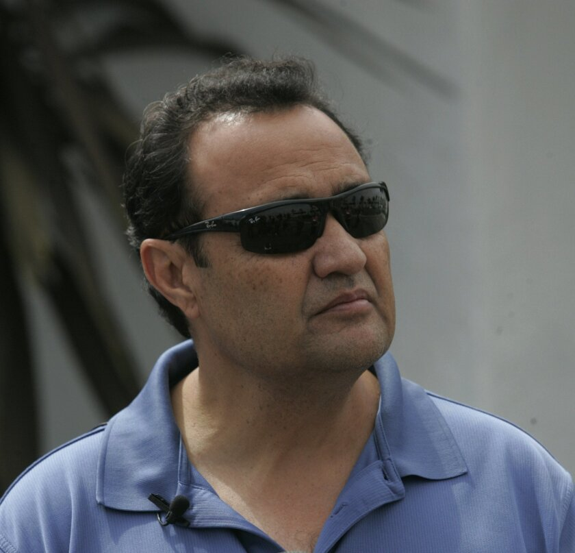 """Former San Diego police Officer Ernesto """"Ernie"""" Encinas is shown in June 2011 when he was representing the Pure Platinum strip club, one of his security business clients."""