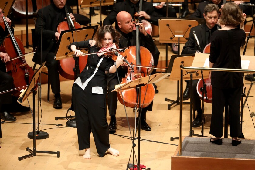 LOS ANGELES, CALIF. -- SUNDAY, APRIL 7, 2019: Patricia Kopatchinskaja, violinist, at the Walt Disney