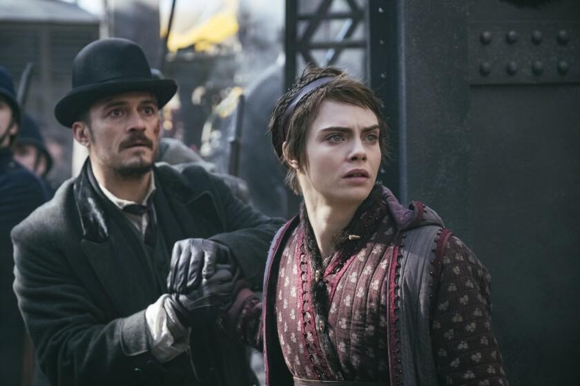 """Orlando Bloom and Cara Delevingne in Amazon Studios' """"Carnival Row"""""""