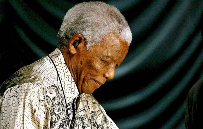 Nelson Mandela during a celebration of his 90th birthday year in Johannesburg on March 5, 2008. Mandela turned 90 on July 18.