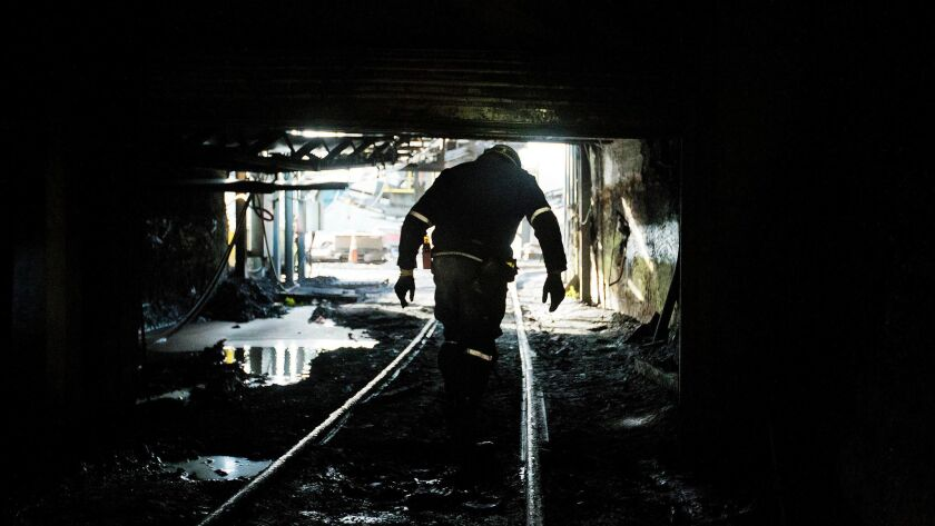 A West Virginia miner in 2015.