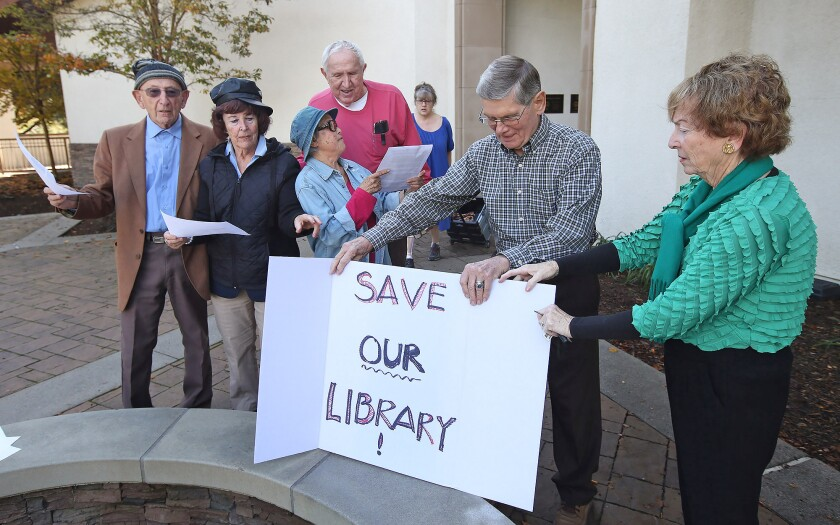 Laguna Niguel Library protest