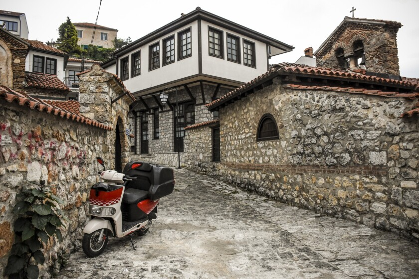 Ohrid's Old Town and lake are UNESCO World Heritage Sites.
