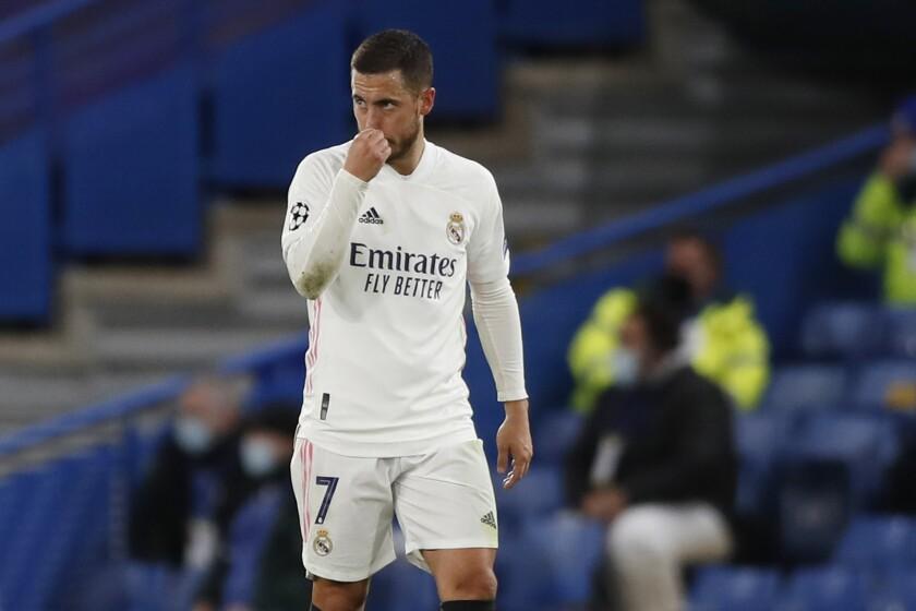 En foto del miércoles 5 de mayo del 2021, Eden Hazard, del Real Madrid