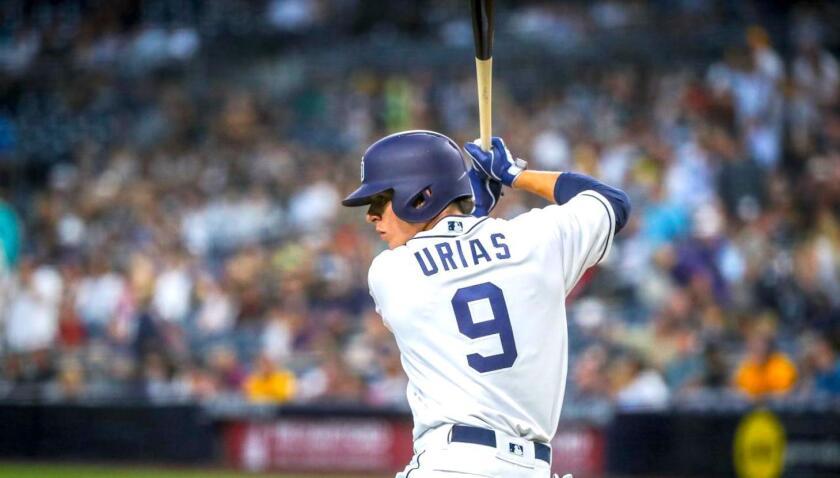 Luis Urías tuvo tres turnos al bate.