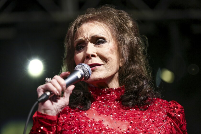 Loretta Lynn, shown in this 2016 photo, was too sick to pick up a CMT lifetime achievement award on Oct. 17.