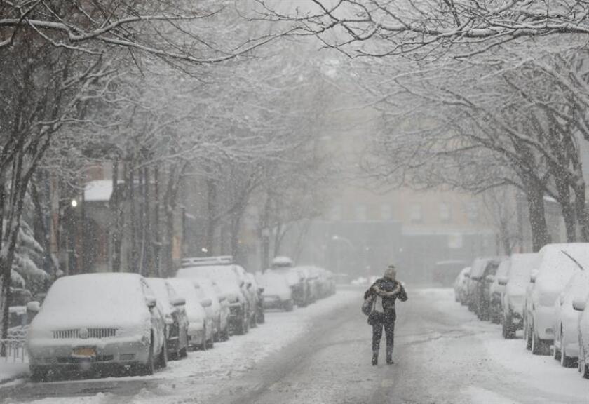 Fotografía de archivo de una tormenta de nieve en Nueva York (Estados Unidos). EFE/Archivo