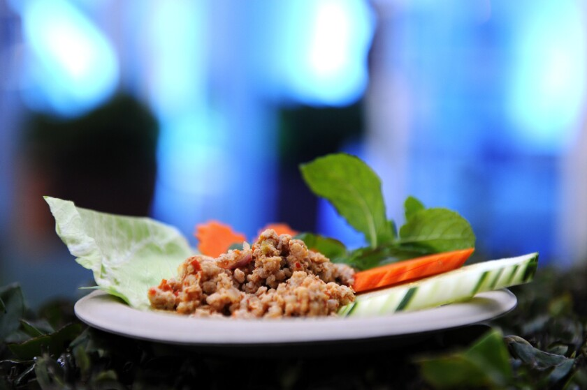 Chicken larb from Jitlada.