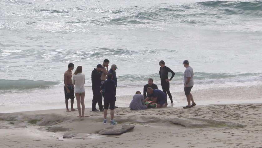 lifeguard performs a rescue