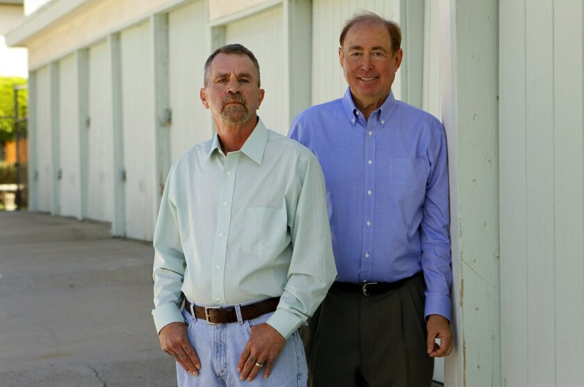 Rufus Hannah, left, and Barry Soper were unlikely friends -- one was homeless, the other a successful businessman. Their friendship was forged next to a Dumpster and solidified next to an empty casket.