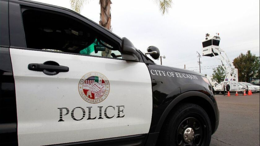 El Cajon police vehicle