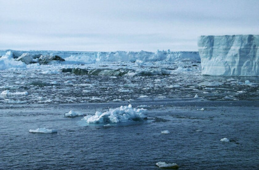 A new study finds that more than half of the ice loss in Antarctic ice shelves is the result of melting at the base.