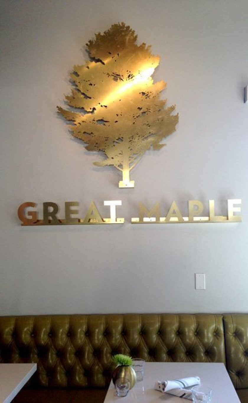 Inside the new Great Maple restaurant, opening in the old Brian's and Topsy's diners.