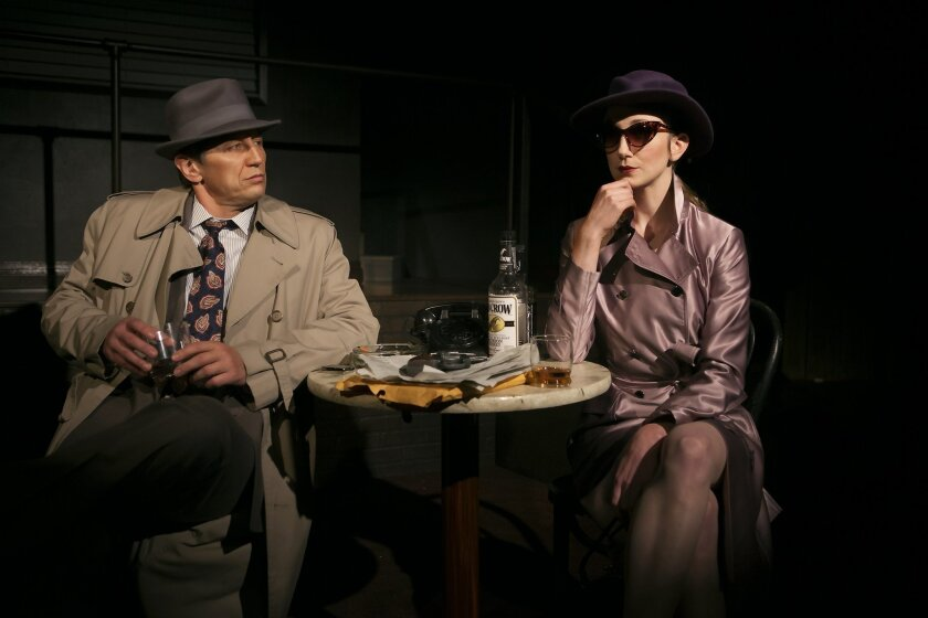 Kevin Bailey and Sharon Rietkerk star in the San Diego premiere of the musical 'Gunmetal Blues' at North Coast Repertory Theatre in Solana Beach, Jan. 17-Feb. 8, 2015.