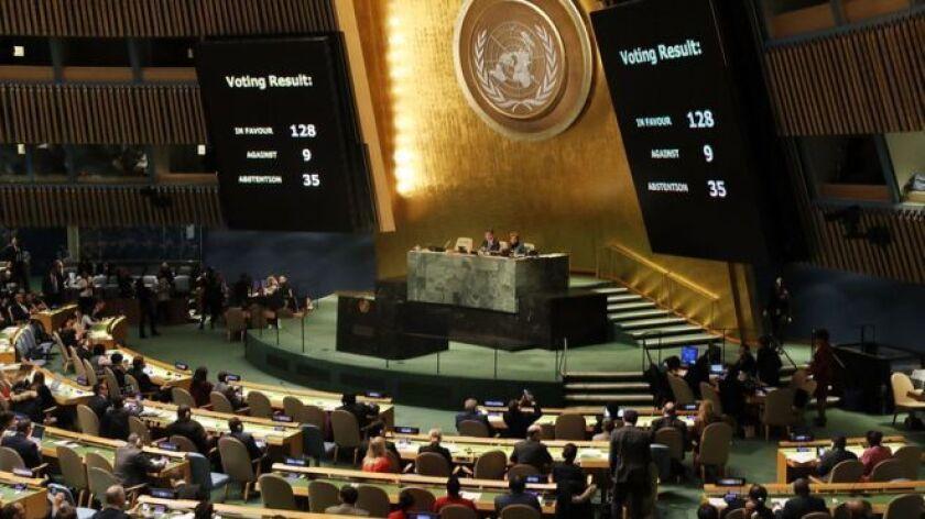 Sólo nueve países votaron en contra de la resolución de Naciones Unidas que rechazó la decisión de Estados Unidos de reconocer a Jerusalén como la capital de Israel. Y dos de ellos están en América Latina.