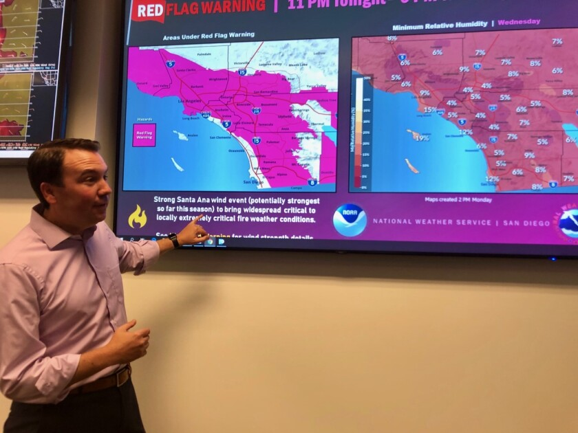 Brian D'Agostino of SDGE weather center