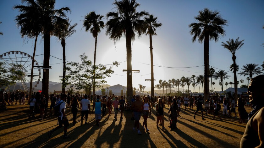 A scene from the Coachella Valley Music and Arts Festival.