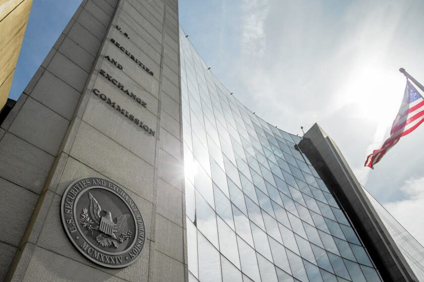 The U.S. Securities and Exchange Commission in Washington.