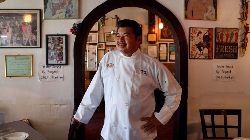 LOS ANGELES, CA: September 6, 2016 - Jitlada restaurant chef Tui Sungkamee. (Katie Falkenberg / Los