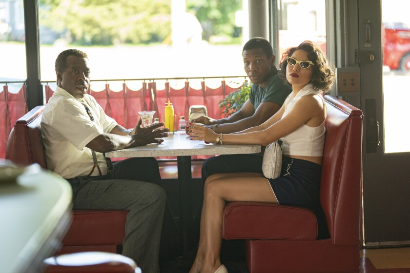 """From left: Courtney B. Vance, Jonathan Majors and Jurnee Smollett in """"Lovecraft Country."""""""