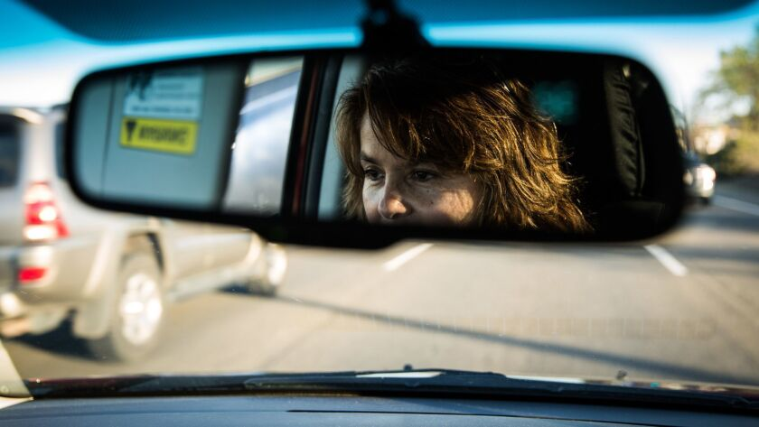 Leticia Aceves drives in Auburn, California, March 31, 2017. Aceves is an undocumented immigrant but