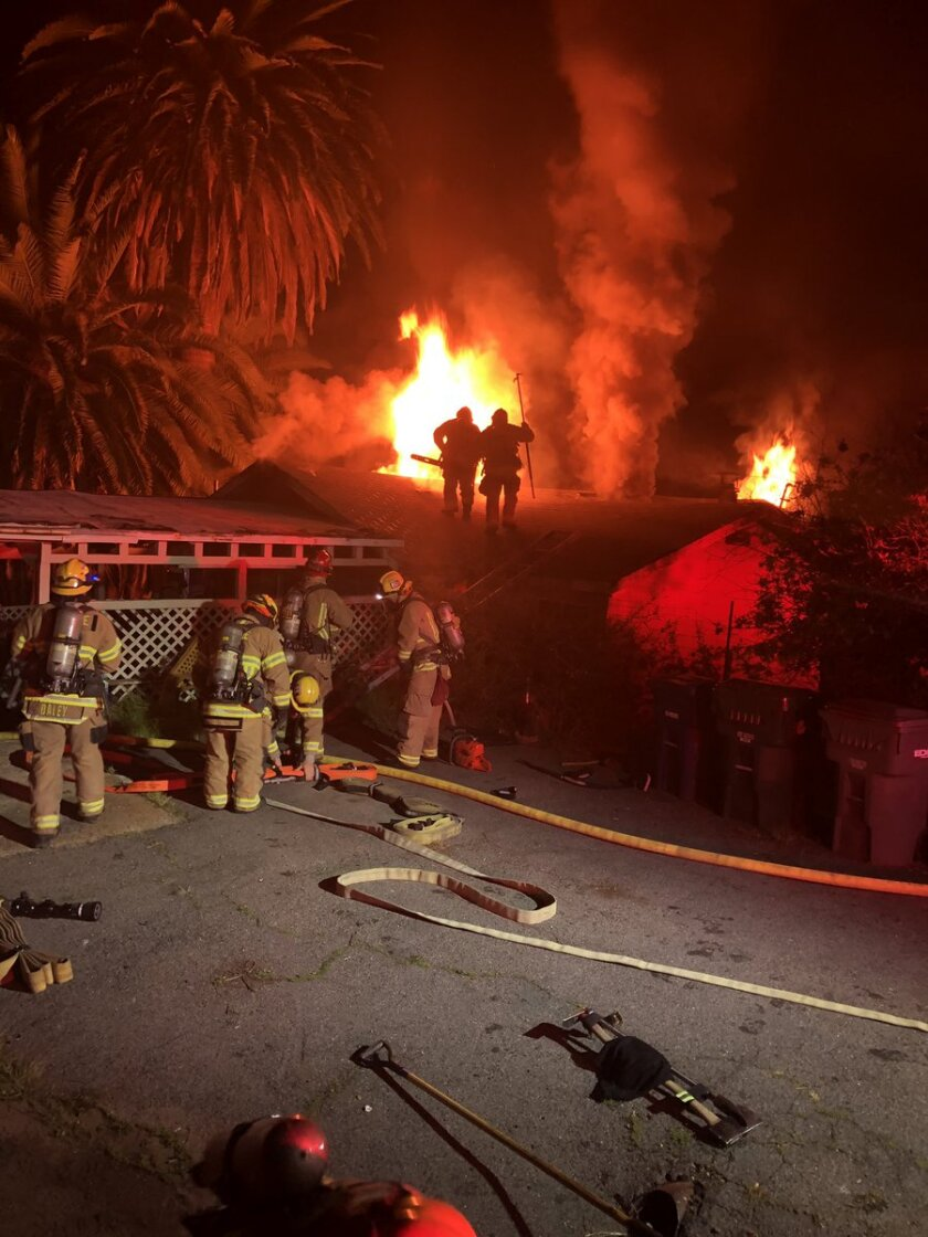 An early morning fire in Deer Springs displaced a family of five.