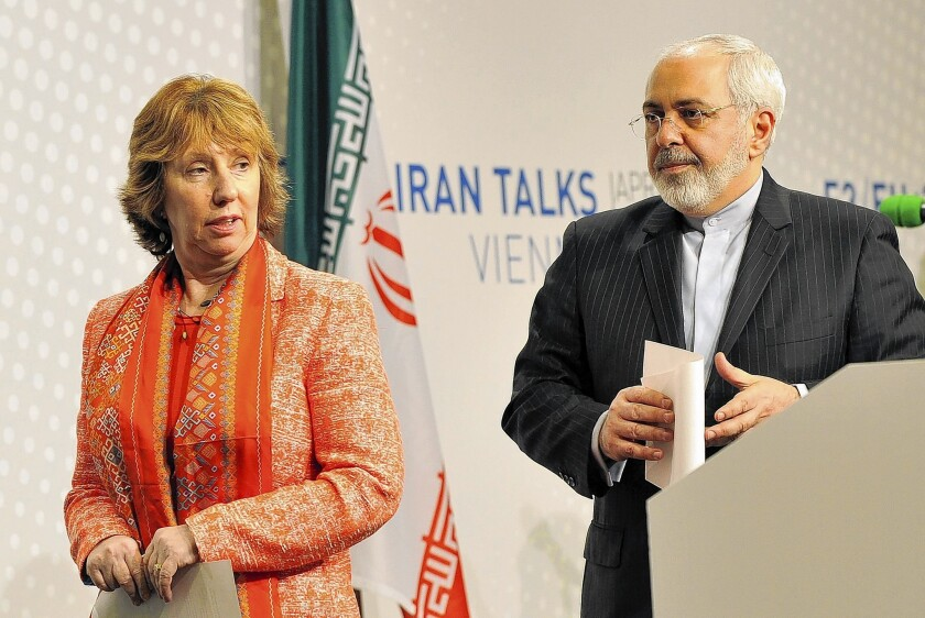 European Union foreign policy chief Catherine Ashton and Iranian Foreign Minister Mohammad Javad Zarif issued a joint statement in Vienna after the discussions between Iran and six world powers.
