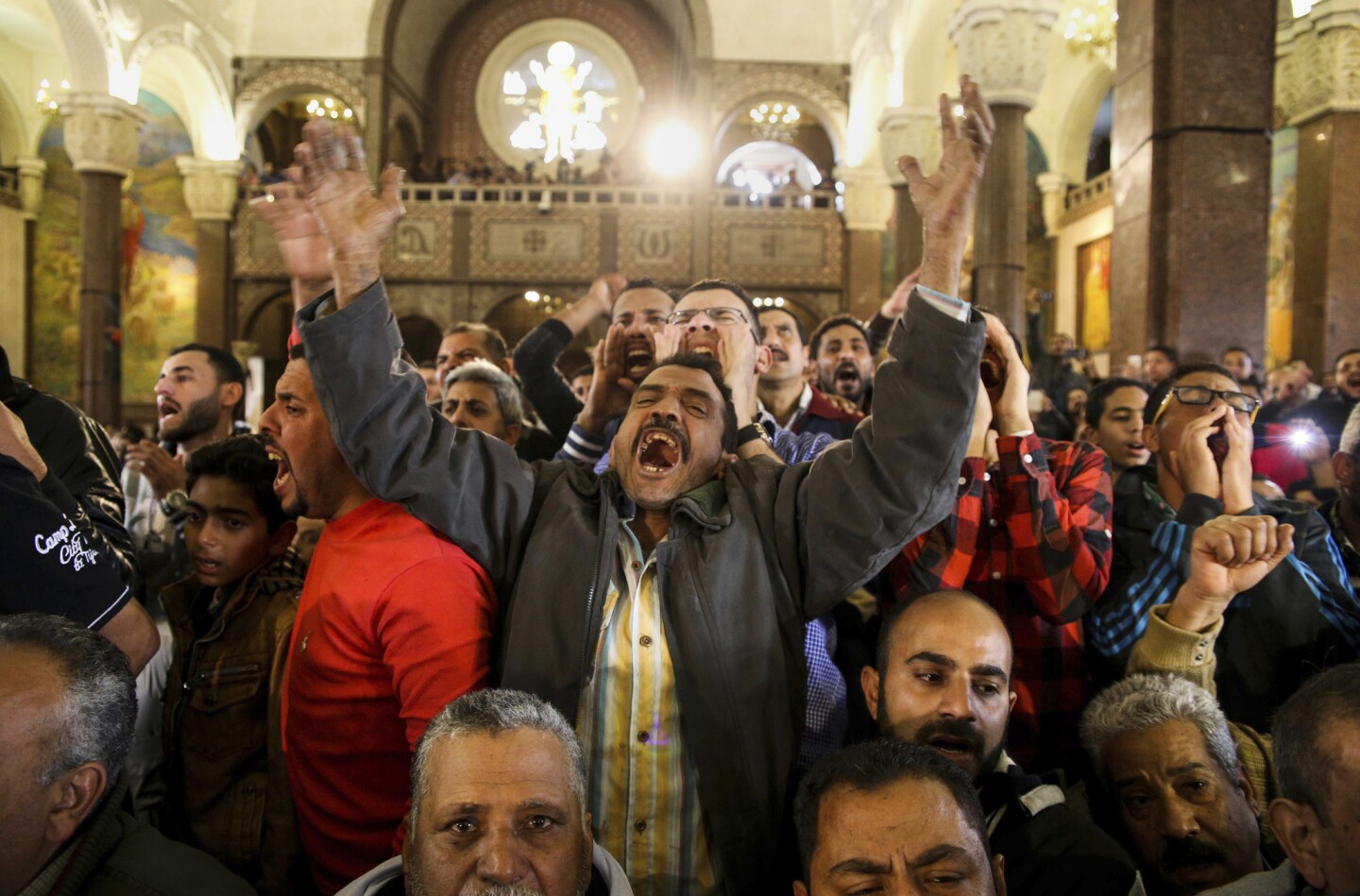 Egypt church bombing funerals