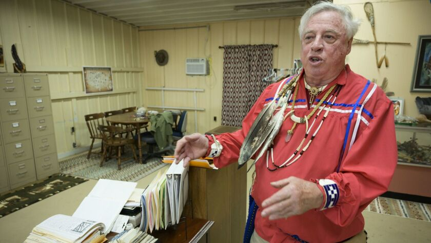 """In telephone interviews, Kenn """"Grey Elk"""" Descombes, the chief of the Northern Cherokee Nation, said federally recognized Cherokee tribes have unfairly denounced his organization because they don't want competition for federal funds."""