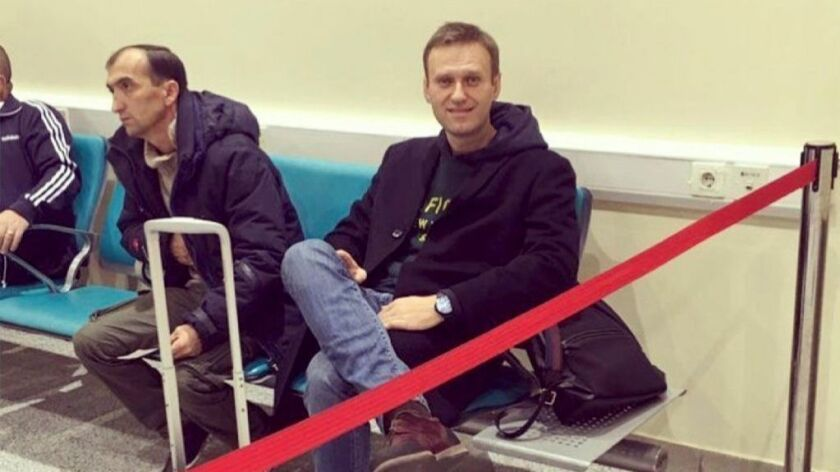 Russian anti-corruption crusader Alexei Navalny had planned to attend a final hearing on his case before the European Court for Human Rights in France.