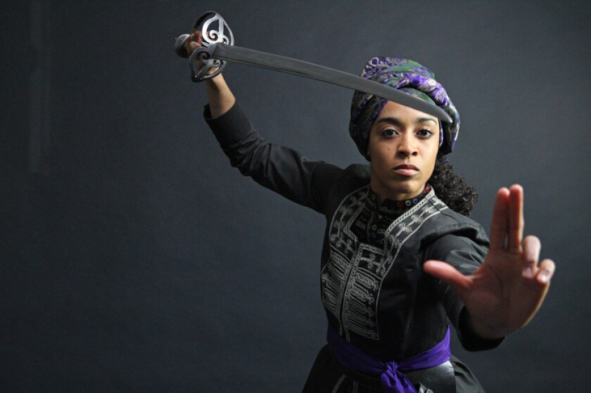 "Devereau Chumrau as Hamida in ""House of Joy"" at San Diego Rep."