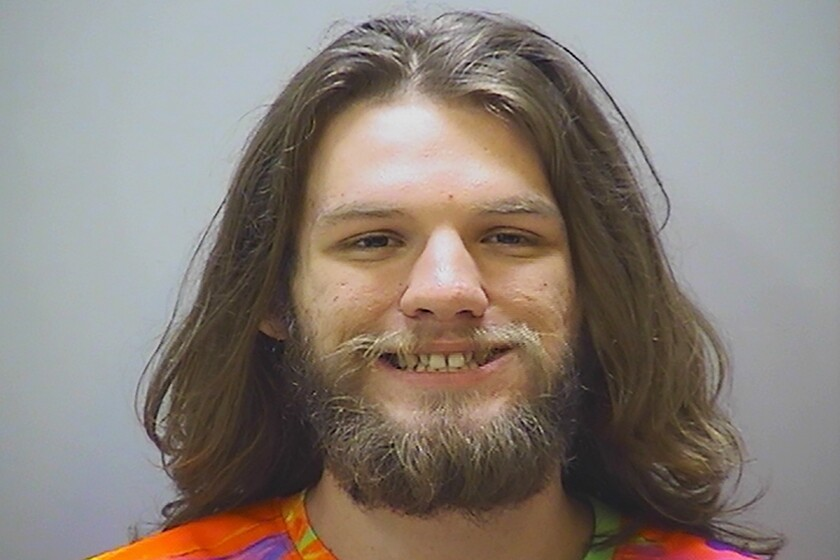 Spencer Alan Boston, 20, was arrested and charged with disorderly conduct and simple possession.