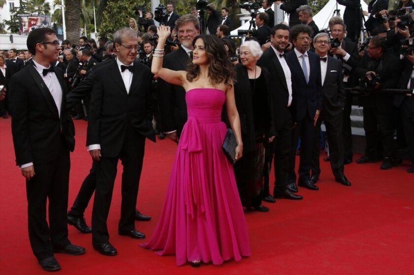 Salma Hayek at the 2014 Cannes Film Festival, shortly before presenting pieces of her animated adaptation 'Kahlil Gibran's The Prophet'