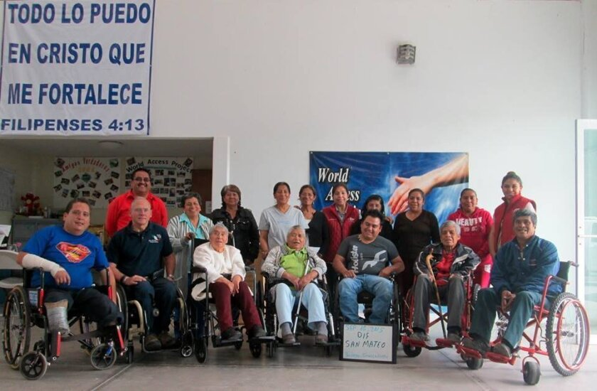 The World Access Project, founded by Richard St. Denis, recently donated wheelchairs in the Mexican town of San Mateo Atenco to those who are young and active and to older retired people. Courtesy photo
