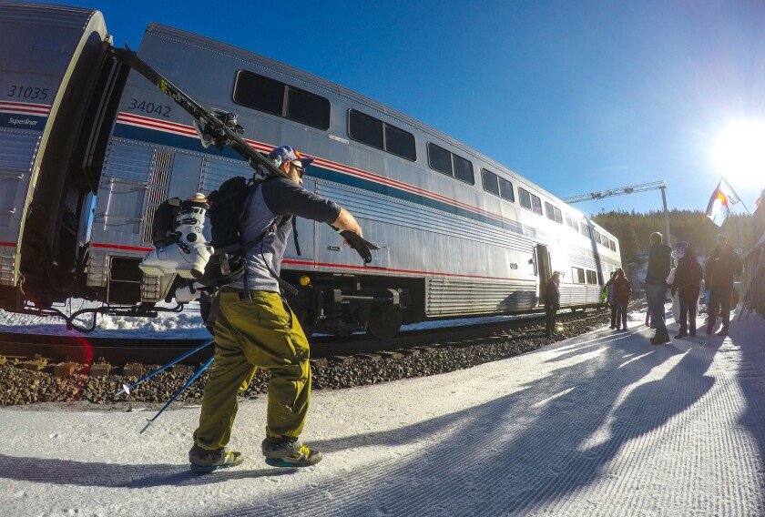Train service from the tracks to the slopes in one ride.