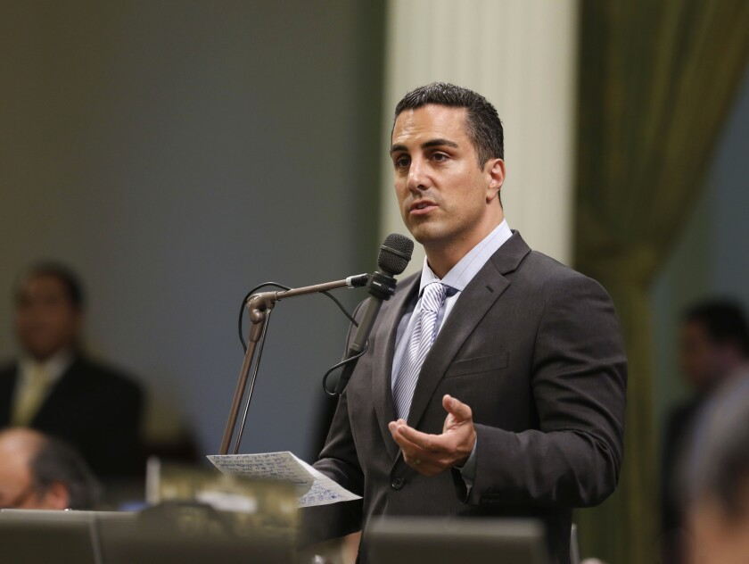 Assemblyman Mike Gatto (D-Los Angeles) addresses lawmakers at the Capitol in Sacramento.