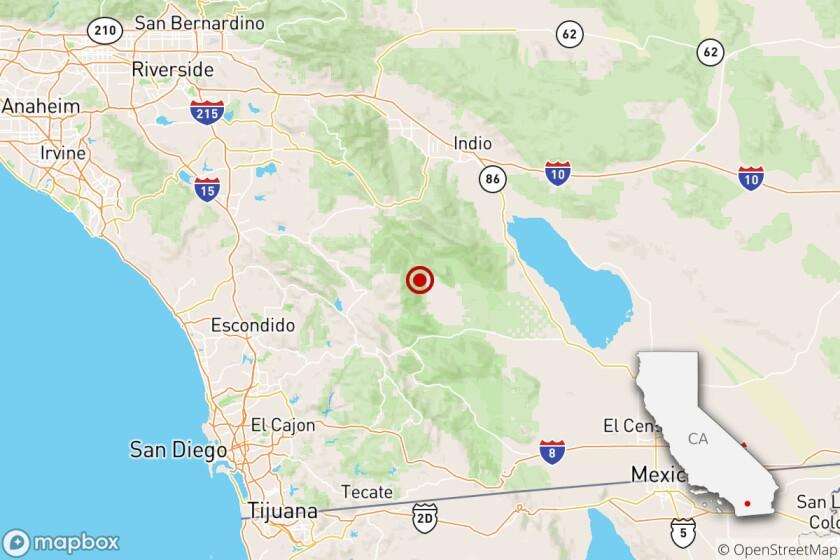 An earthquake was felt near La Quinta on Sept. 20.