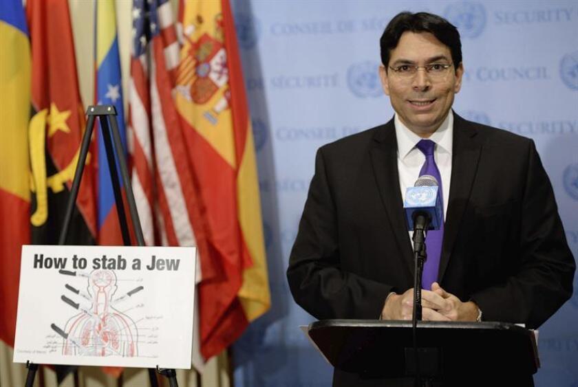 Además de pedir una reunión del Consejo de Seguridad, el representante israelí, Danny Danon, exigió al secretario general de la ONU, António Guterres, una condena del ataque. EFE/ARCHIVO