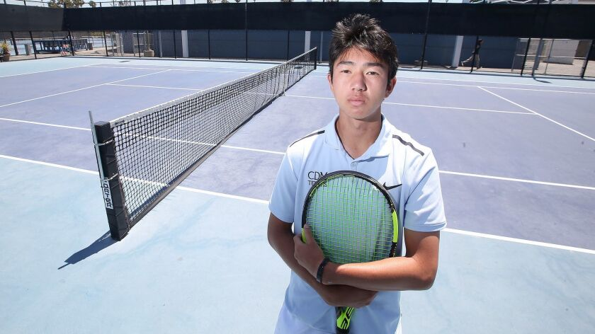 Kyle Pham of Corona del Mar boys' tennis is the Male Athlete of the Week. Pham reached the CIF South