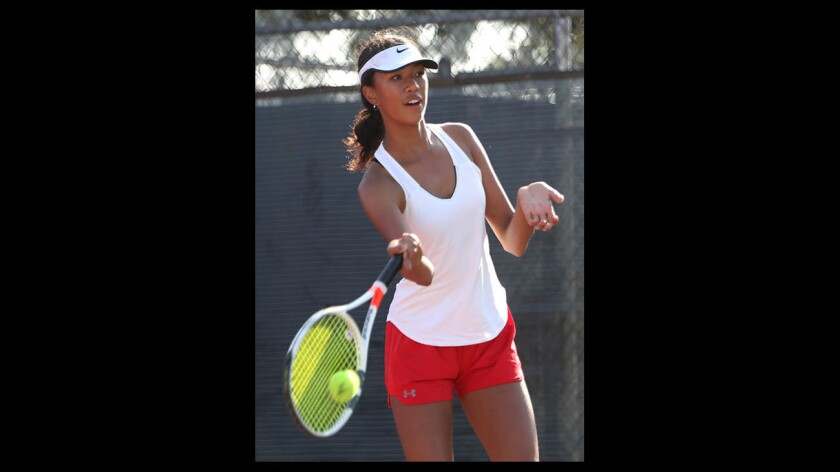 Photo Gallery: Glendale High vs. Burroughs in girls tennis