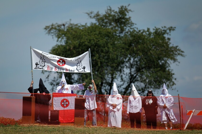 In early September, the same Ku Klux Klan group that has been granted a permit for an October event at Gettysburg held a rally at the Antietam National Battlefield near Sharpsburg, Md.