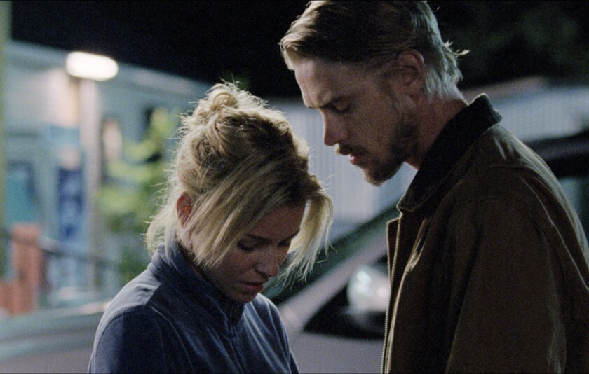 """Elizabeth Banks stars as the wife of an under-investigation mine executive and Boyd Holbrook as the survivor of a mining disaster in """"Little Accidents."""""""